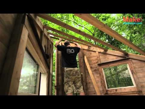 """""""The Wolfe's Den"""" Treehouse - Tiny Yellow House      - YouTube"""