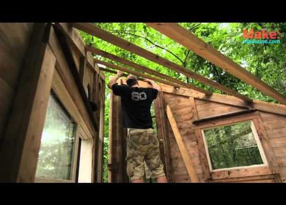 """The Wolfe's Den"" Treehouse - Tiny Yellow House      - YouTube"