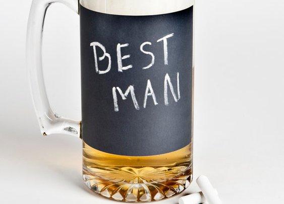 Chalkboard Beer Mug: a unique groomsmen gift