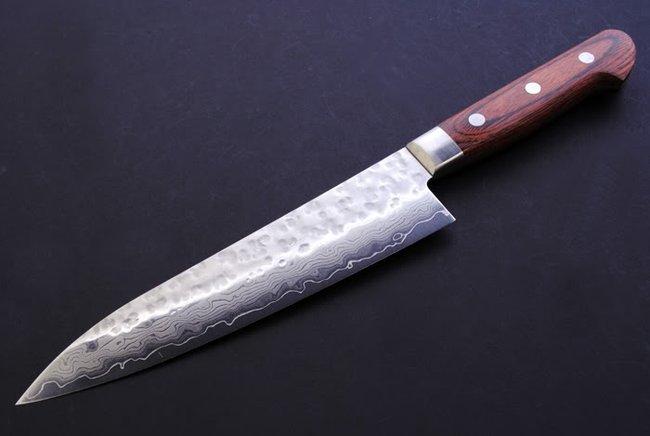 Yoshihiro Vg 10 Hammered Damascus Gyuto Knife 7 Quot 180mm