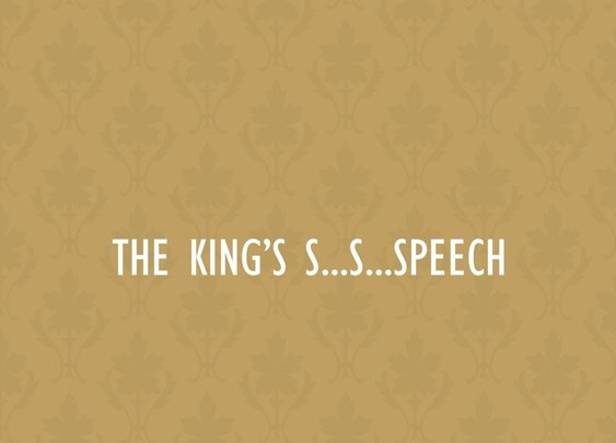 The King's Speech Minimalist Poster