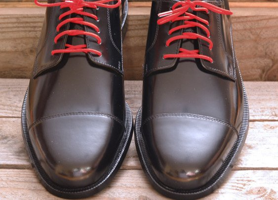 Colored Dress Shoelaces 2-pairs - Fire Red