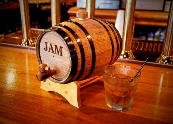 Engraved Mini Whiskey Barrel