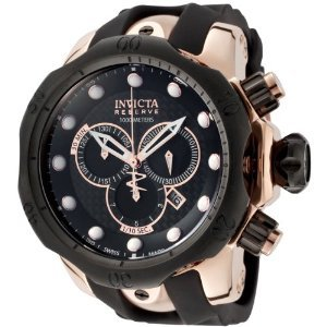 Amazon.com: Invicta Men's 0361 Reserve Collection Venom Chronograph Black Polyurethane Watch: Invicta: Watches