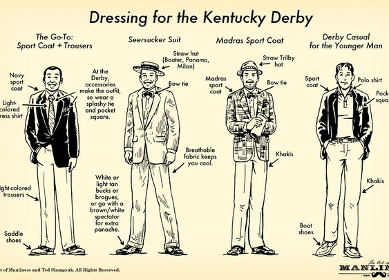How To Dress For the Kentucky Derby: Your 60 Second Visual Guide | The Art of Manliness