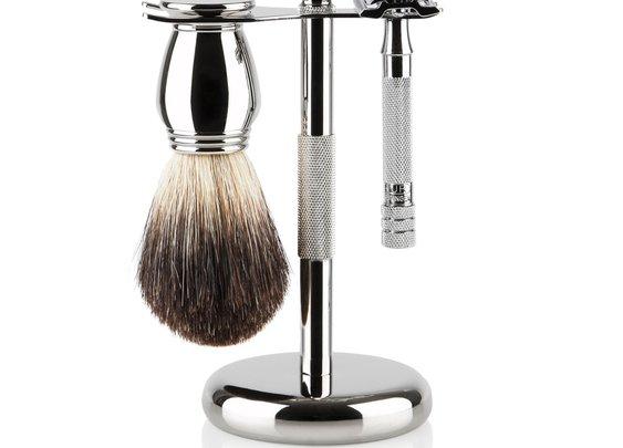 Merkur Chrome Shaving Gift Set