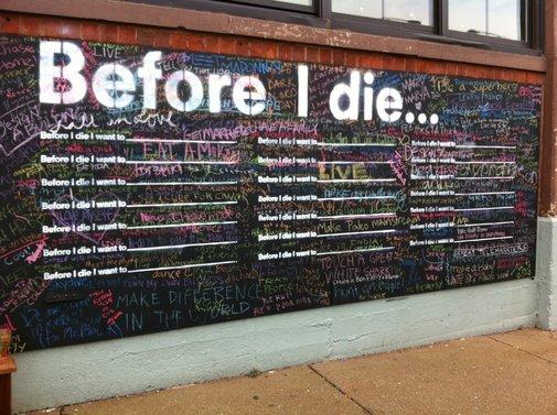 Before I die... Street art