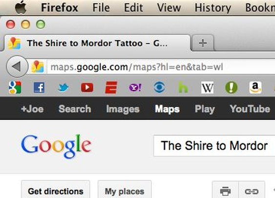 Google Maps: Shire to Mordor