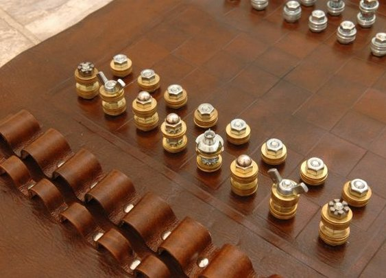 Handcrafted Leather Chess Sets