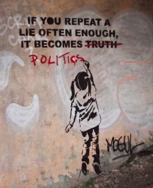 Banksy – If you repeat a lie often enough, it becomes politics | Ufunk.net