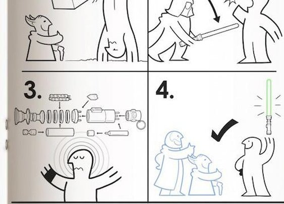 Lightsaber instructions from IKEA