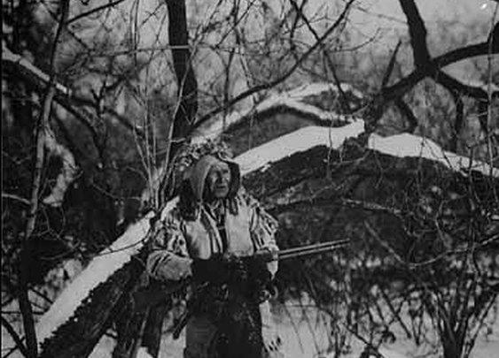 Ojibwe Hunter in Winter