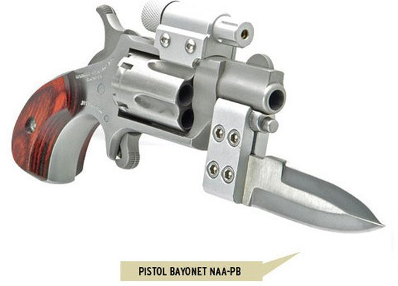 Mini-Revolver with Laser and Bayonet