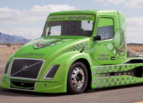 Volvo claims World Hybrid Truck speed record