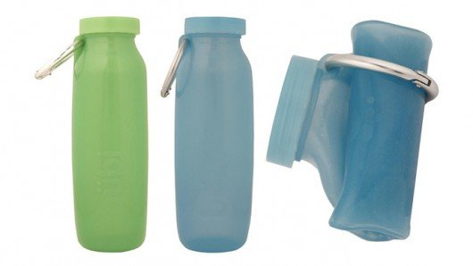 Bübi Bottle - a scrunchable container for drinks