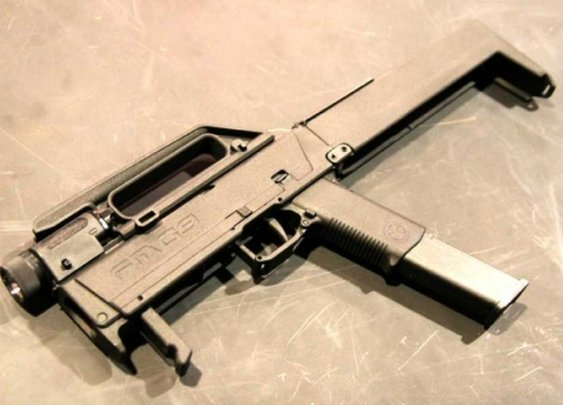 The Magpul FMG9 Netbook-sized Folding Machine Gun