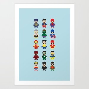 Really Super Marios Art Print by Hello Lafratta | Society6