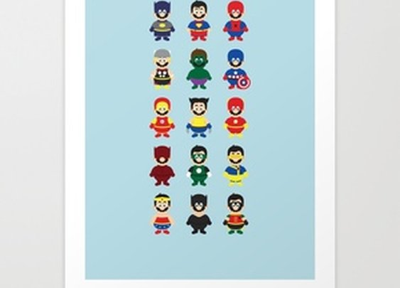 Really Super Marios Art Print by Hello Lafratta | Society6