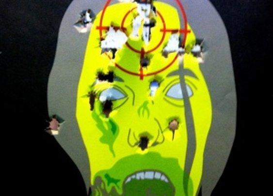 Zombie Headshots at the Range