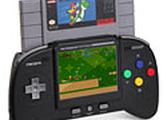 ThinkGeek :: Retro Duo Portable NES/SNES Game System