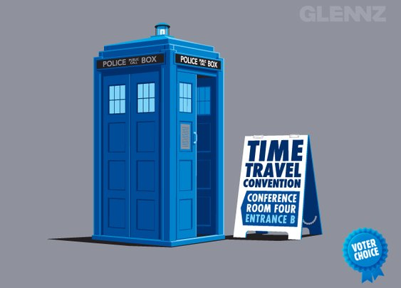Time Travel Convention - A Glennz Tees Original T-Shirt