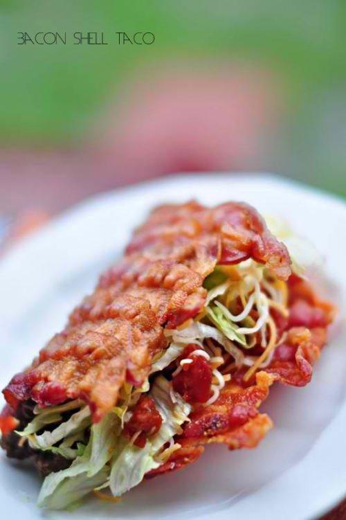 bacon shell taco