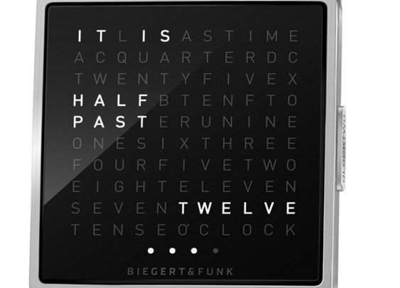 text watch - time in words - cool watch