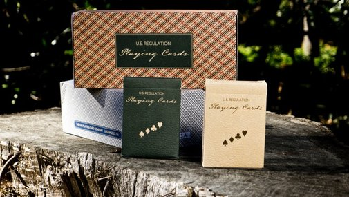 Vintage Plaid Playing Cards by Dan and Dave