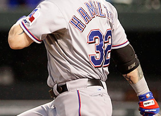 Texas Rangers' Hamilton Produces 4 HR and a Double--Making the Top Five in MLB History!