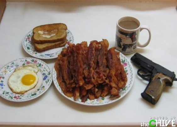 The Man's Breakfast (with a refreshing after-breakfast heart attack)