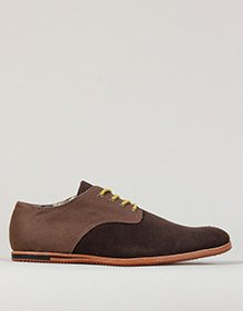 Ben Sherman Mayfair Canvas And Suede Brown Shoes