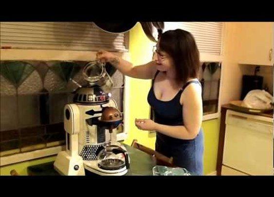 R2D2 coffee maker fill up