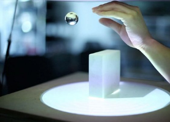 ZeroN system holds a ball wherever you place it, in mid-air