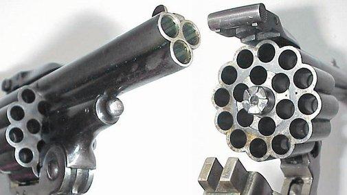 Pew Pew Pew!: Triple-Barreled Pistol Makes 3x The Holes | Geekologie