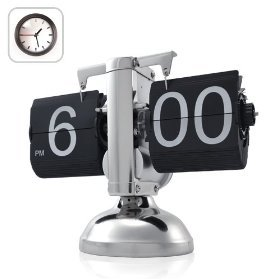 Niceeshop Retro Flip Down Clock - Internal Gear Operated: Electronics