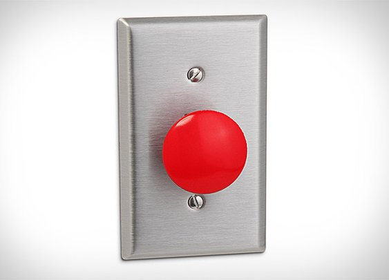 Panic Button Light Switch | Uncrate