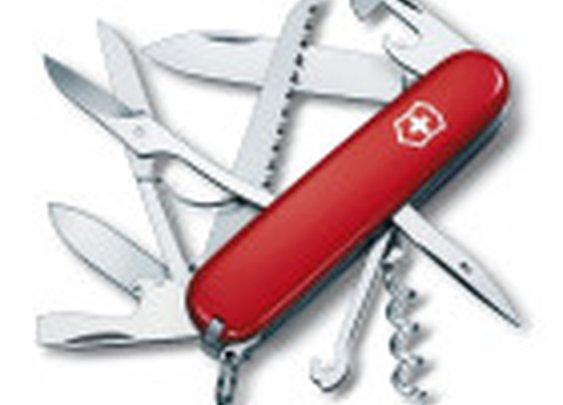 Huntsman Pocket Knife, Swiss Army, Swiss Army Huntsman Pocket Knife