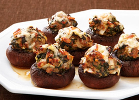 Stuffed Baby Portabella Mushrooms