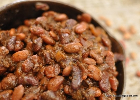 """Because Potato Chips Don't Count as a Side: Slow-simmered BBQ """"Cowboy"""" Beans. - Something Edible"""