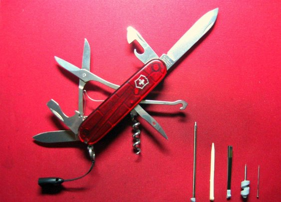 Victorinox Climber plus red translucent.