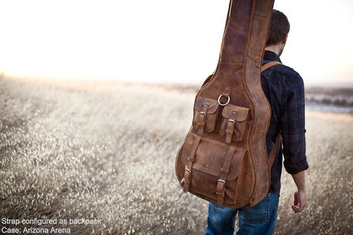 Georgia Brown Leather Guitar Case | Whipping Post