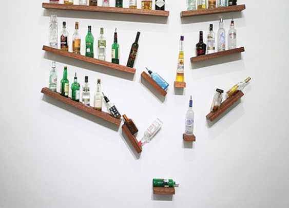 Shelves for your booze.