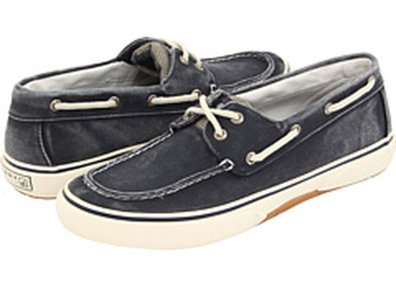 Sperry Top-Sider Halyard 2-Eye Navy/Honey - 6pm.com