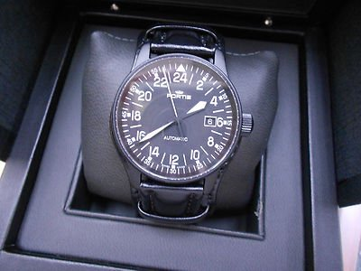 Fortis Flieger black 24h automatic | eBay