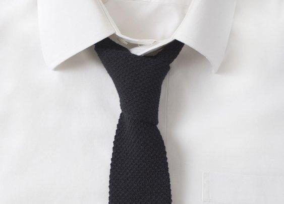 Knit Cotton Black Tie