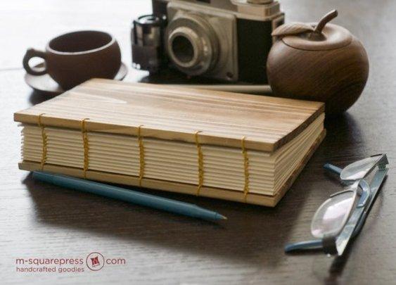 Letterpress Wooden handcrafted Sketch/Journal Book