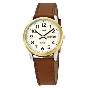 Amazon.com: Timex Men's T20011 Easy Reader Brown Leather Strap Watch: Timex: Watches
