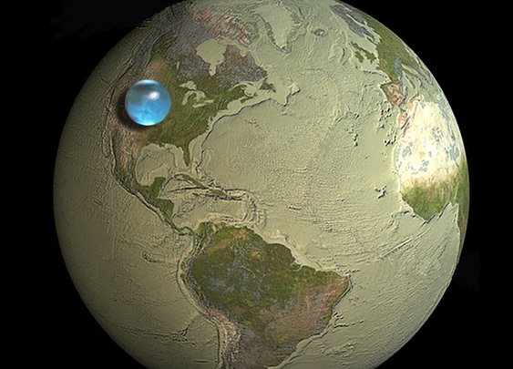 Photos: If All of Earth's Water was put into Single Sphere, from the USGS Water Science School