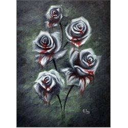 Blood Black Roses By Bobby Holland Lowbrow Artwork Canvas Art Print