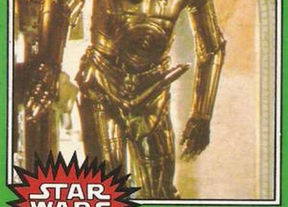 The C-3PO with a Boner – Star Wars Trading Card from Topps